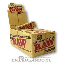 Boquillas (Tips) Raw Engomadas - Display