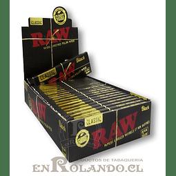 Papelillos RAW Clasic Black 1 1/4 - Display