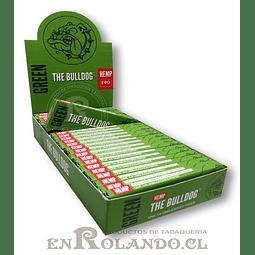 Papelillos The Bulldog Verde 1 1/4 - Display