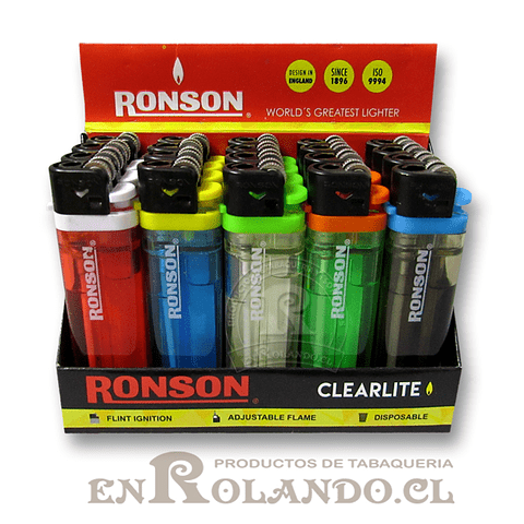 Encendedor Ronson Clearlite - Display