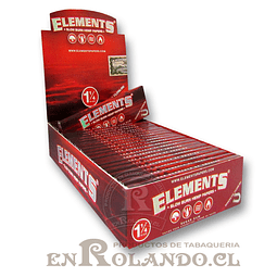 Papelillos Elements Rojo 1 1/4 - Display