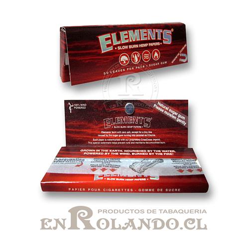 Papelillos Elements Rojo 1 1/4 - Display