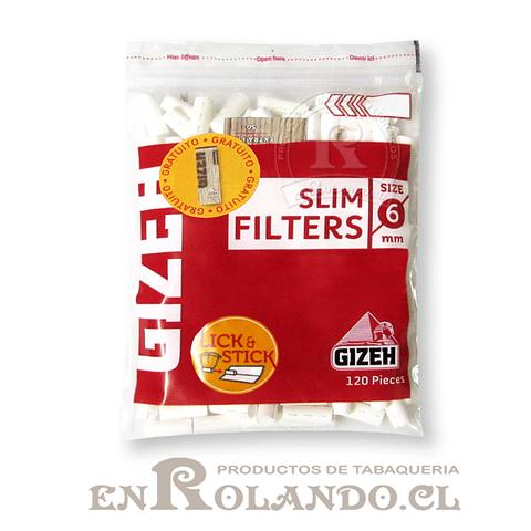 Filtros Gizeh Slim + librito papelillos- Bolsa ($690 x Mayor)