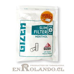 Filtros Gizeh Menthol Slim - Bolsa ($790 x Mayor)