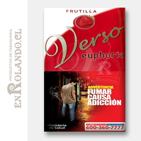 Tabaco Verso Euphoria Frutilla ($5.490 x Mayor)