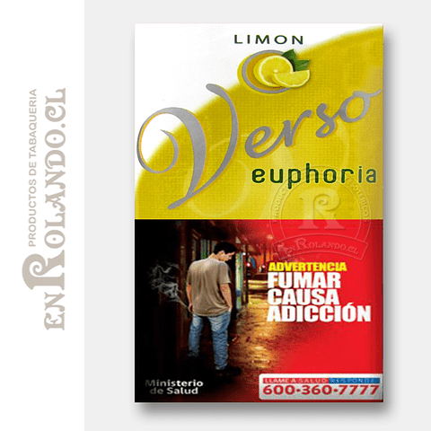 Tabaco Verso Euphoria Limón ($5.490 x Mayor)