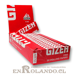 Papelillos Gizeh Rojo (Fine) 1 1/4 - Display