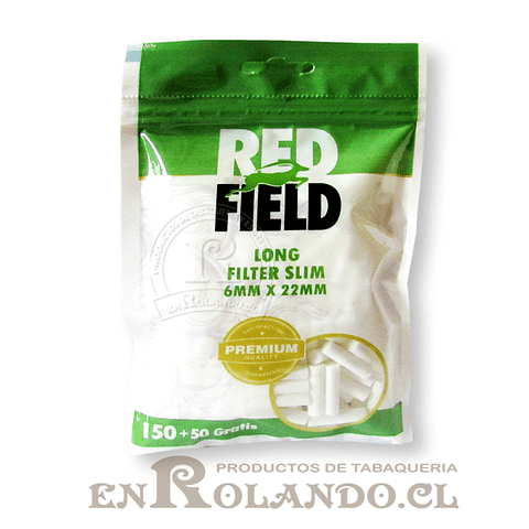 Filtros Redfield Slim Long - Bolsa ($850 x Mayor)