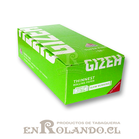 Papelillos Gizeh Verde (Super Fine) # 1 - Display