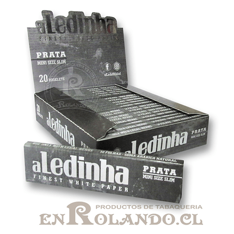 Papelillo Aledinha Plata Mini Size Slim - Display