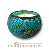Vela Aromática Vainilla, Posillo Mosaico ($2.990 x Mayor)