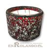 Vela Aromática Vainilla, Posillo Mosaico Grande ($2.990 x Mayor)