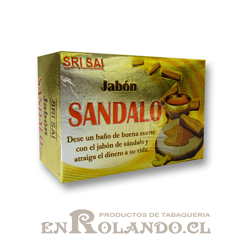 """Jabón con Aroma Sri Sai """"Sandalo"""" ($500 x Mayor)"""