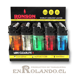 Encendedor Ronson Mini Clearlite - Display