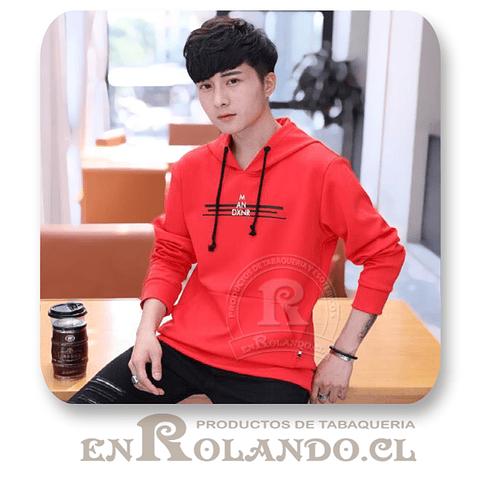 Polerón Canguro Diseño Rojo ($5.900 x Mayor)