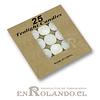 Velas Flotante Tealight  - Set de 25 ($990 x Mayor)