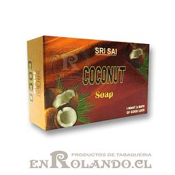 """Jabón con Aroma Sri Sai """"Coco"""" ($500 x Mayor)"""
