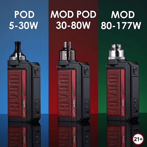 Kit VOOPOO DRAG Max 177W TC con tanque PNP
