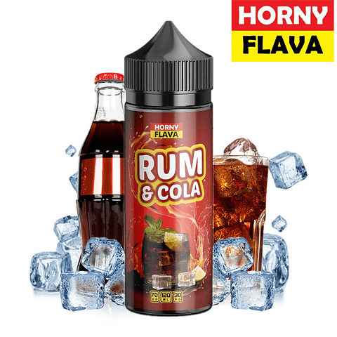 HORNYFLAVA Rum & Cola  120ML