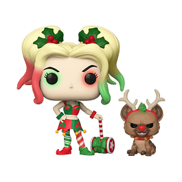 POP! Heroes: DC Holiday - Harley Quinn with Helper