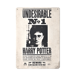 Placa de Metal Harry Potter Undesirable Nº 1