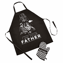 Conjunto Avental e Luva Oven Star Wars I Am Your Father