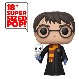 POP! Harry Potter: Harry Potter with Hedwig (Super Sized)