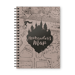 Notebook A5 Harry Potter Marauder's Map