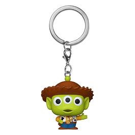 Porta-chaves Pocket POP! Disney Pixar Alien Remix: Woody