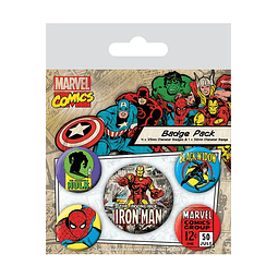 Marvel Comics Pin Badges 5-Pack