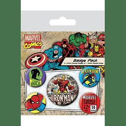 Marvel Comics Pin Badges 5-Pack