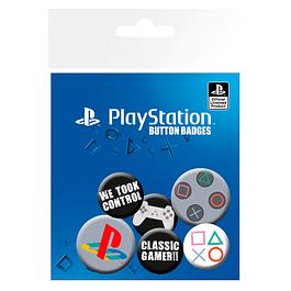 PlayStation Pin Badges 6-Pack