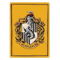 Placa de Metal Harry Potter Hufflepuff