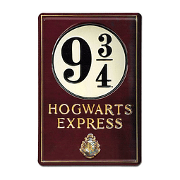 Placa de Metal 3D Harry Potter Platform 9 3/4