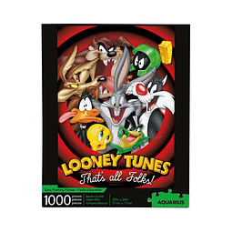 Puzzle 1000 Peças Looney Tunes That's all Folks