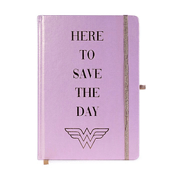 Notebook A5 Premium Wonder Woman Here to Save the Day