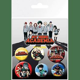 My Hero Academia Pin Badges 6-Pack Mix