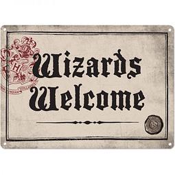Placa de Metal Harry Potter Wizards Welcome