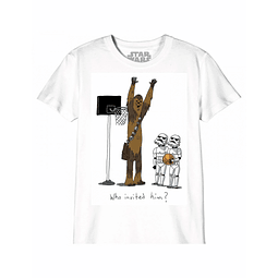 T-shirt Criança Star Wars Who Invited Him