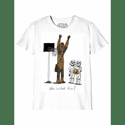 T-shirt Criança Star Wars Who Invited Him