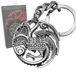 Porta-chaves Game of Thrones Targaryen Sigil Gunmetal