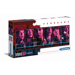 Puzzle 1000 Peças Stranger Things Characters Panorama