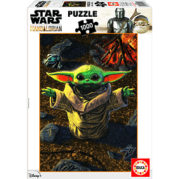 Puzzle 1000 Peças Star Wars The Mandalorian The Child