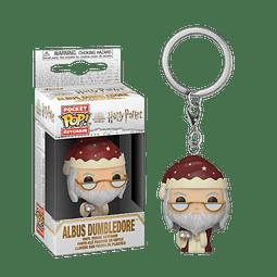 Porta-chaves Pocket POP! Harry Potter: Albus Dumbledore Holiday