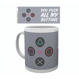 Caneca PlayStation Push My Buttons
