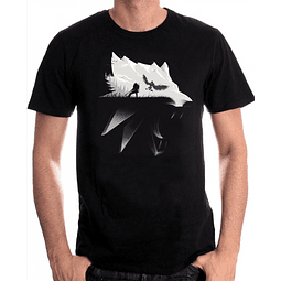 T-shirt The Witcher Wolf Silhouette