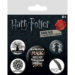 Harry Potter Pin Badges 5-Pack Symbols