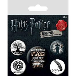 Harry Potter Pin Badges 5-Pack Symbols