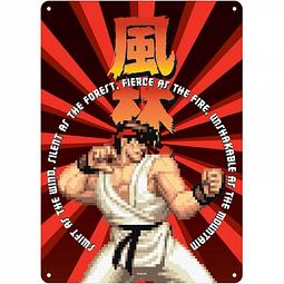 Placa de Metal Street Fighter Ryu