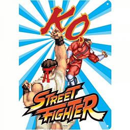 Placa de Metal Street Fighter KO